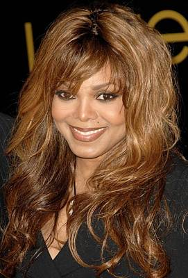 Janet Jackson At Arrivals For Cartier Art Print by Everett