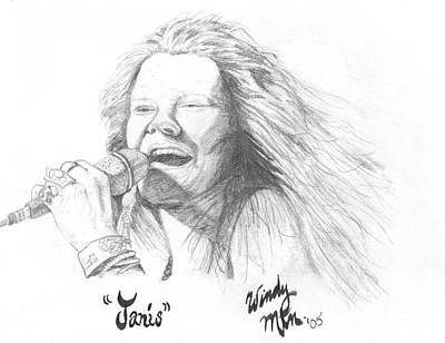 Janis Joplin Drawing - Janis by Windy Mountain