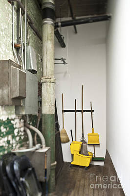 Janitor Closet Art Print by Eddy Joaquim