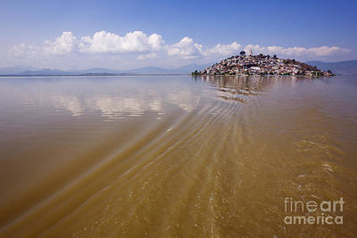 Patzcuaro Photograph - Janitzio Island From A Water Taxi by Jeremy Woodhouse