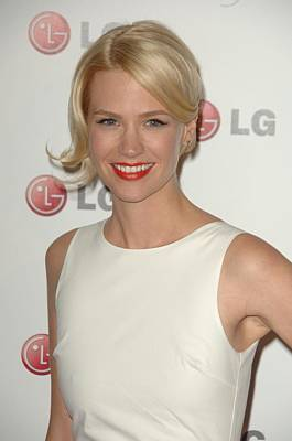January Jones At Arrivals For A Night Art Print by Everett