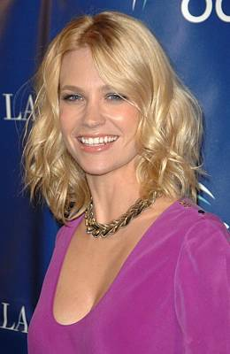 Natural Makeup Photograph - January Jones At Arrivals For Oceanas by Everett