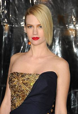 January Jones At Arrivals For Unknown Art Print