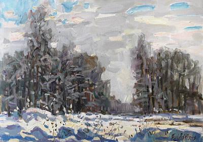 Landsape Painting - January Near Moscow by Juliya Zhukova