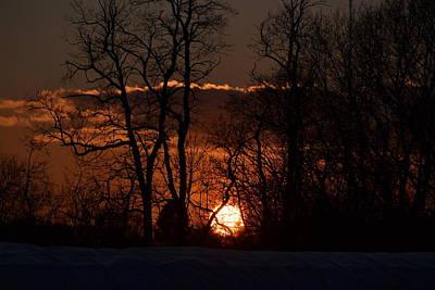 Photograph - January Sunset by Bonnie Myszka