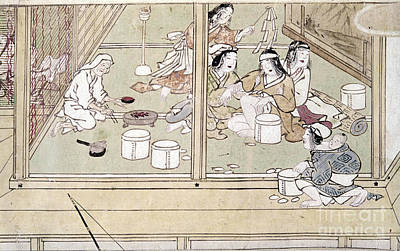 Japan House Photograph - Japan: Childbirth, 1329 by Granger