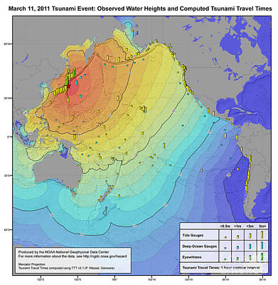 Infographic Photograph - Japan Earthquake And Tsunami, 2011 by Science Source