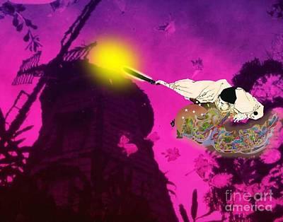 Digital Art - Japan Rebuilding After War by Belinda Threeths