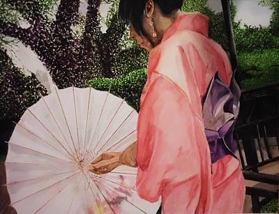 Purple Robe Painting - Japanese Based by Kodjo Somana