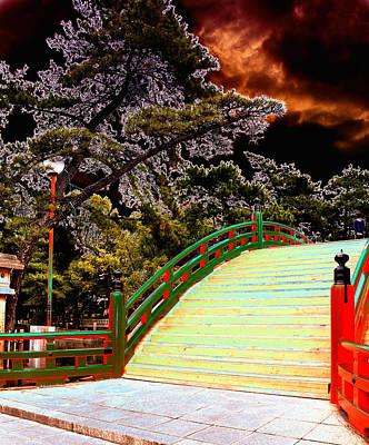 Photograph - Japanese Bridge by Allan Rothman