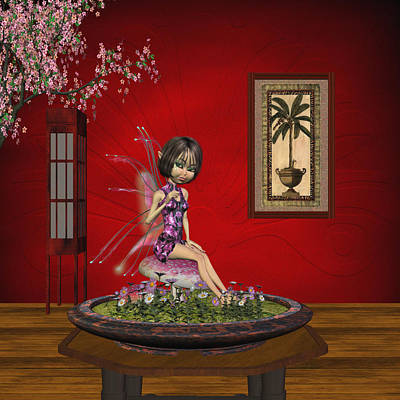 Faries Digital Art - Japanese Fairy Artwork  by John Junek