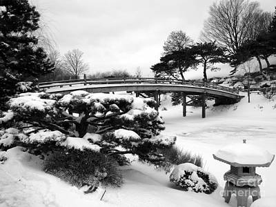 Photograph - Japanese Garden Bridge And Lantern by David Bearden