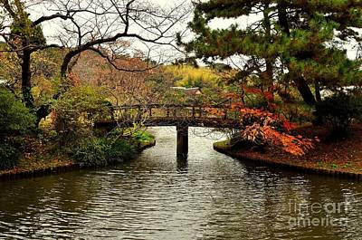 Photograph - Japanese Garden In Autumn 1 by Dean Harte