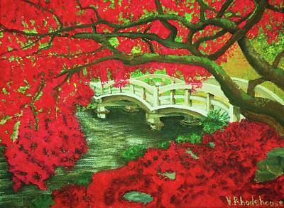 Painting - Japanese Garden by Victoria Rhodehouse