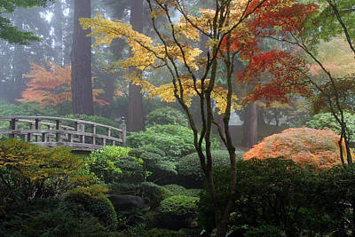 Photograph - Japanese Gardens Fall by Wes and Dotty Weber