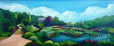 Art Print featuring the painting Japanese Gardens - Donated As A Raffle Prize July 2016 by Therese Alcorn
