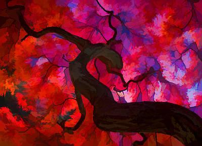 Japanese Maple Branch Art Print