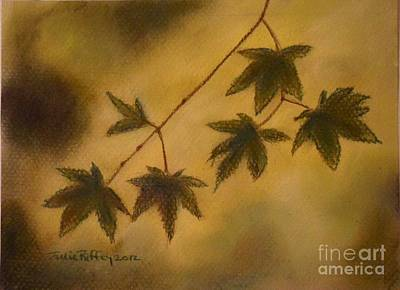 Pastel - Japanese Maple Leaves by Julie Brugh Riffey
