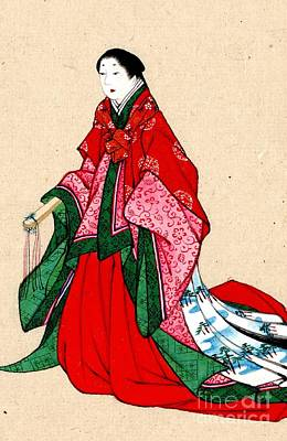 Japanese Noblewoman With Artificial Eyebrows 1878 Art Print by Padre Art