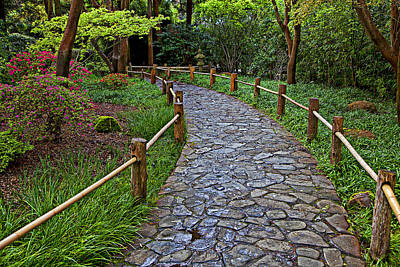 Japanese Tea Garden Path Art Print by Garry Gay