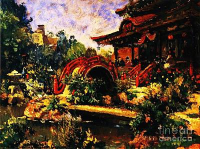 Painting - Japanese Tea Garden by Pg Reproductions