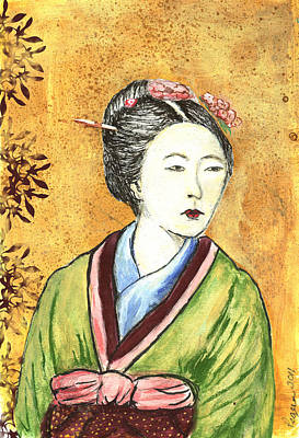 Japanese Woman Art Print by Pegeen  Shean