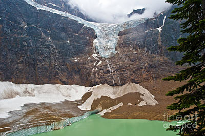 Mountain Scenery Photograph - Jasper - Angel Glacier 2 by Terry Elniski