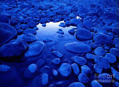 Jasper - Blue Boulders Art Print by Terry Elniski
