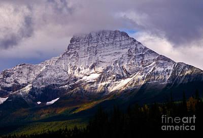 Canadian Rockies Photograph - Jasper - Mount Geraldine In Autumn by Terry Elniski