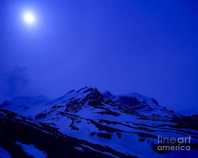 Mountain Scenery Photograph - Jasper - High Noon - Columbia Icefields by Terry Elniski