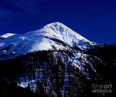 Canadian Rockies Photograph - Jasper - Opal Peak In Winter by Terry Elniski