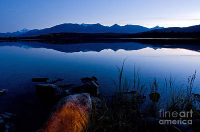 A White Christmas Cityscape - Jasper - Pyramid Lake In Evening by Terry Elniski