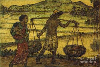 Southeast Asia Painting - Java by Pg Reproductions