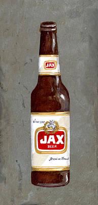 Beer Painting - Jax Beer Bottle 2 by Elaine Hodges