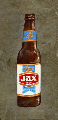 Beer Painting - Jax Beer Bottle 3 by Elaine Hodges