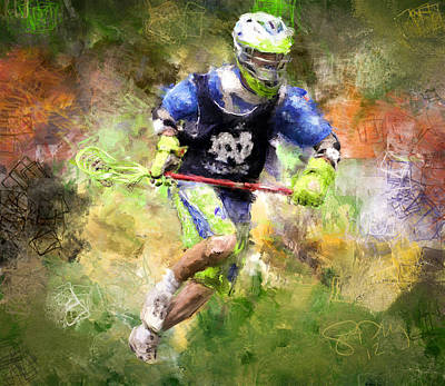 Jaxx Lacrosse 2 Art Print by Scott Melby