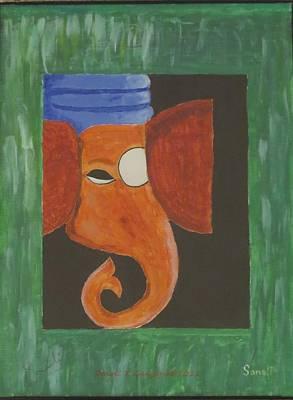 Art Print featuring the painting Jay Ganesh by Sonali Gangane