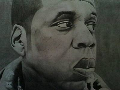 Jay Z Drawing - Jay-z by Michael Bennett