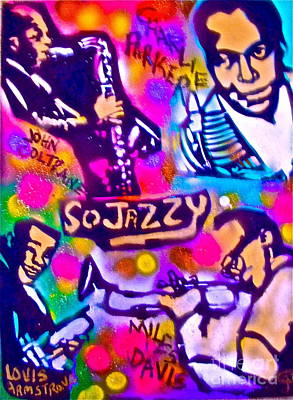 Music Paintings - Jazz 4 All by Tony B Conscious