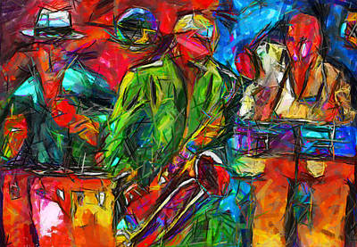 Painting - Jazz by Ben Rotman
