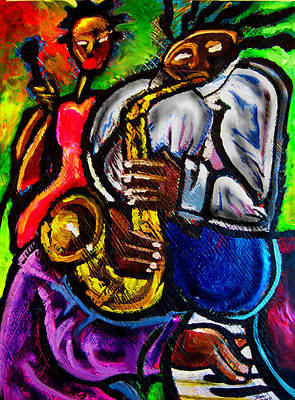 Jazz Groove Art Print by Kevin McDowell