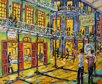 Town Painting - Jazz It Up New Orleans By Prankearts by Richard T Pranke