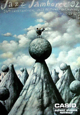 Mixed Media - Jazz Jamboree 1992 by Rafal Olbinski