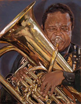 Painting - Jazz Legend- Howard Johnson by Larry Seiler