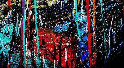 Contemporary Abstract Painting - Jazz Process 29 by John  Nolan