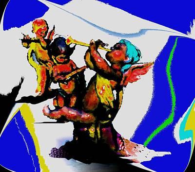Jazz Trio At The Cloud Bar Art Print by Merlin Neff