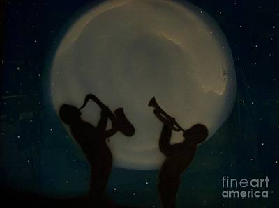 Jazzing At The Moon Art Print