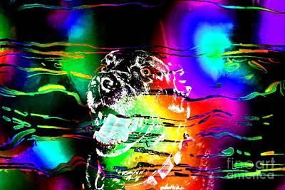 Black Lab Digital Art - Jazzy Smiling Black Lab by Barbara Griffin