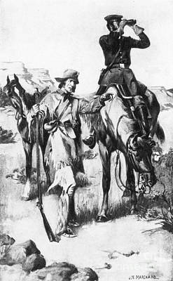J.c. Fremont And His Guide, Kit Carson Art Print