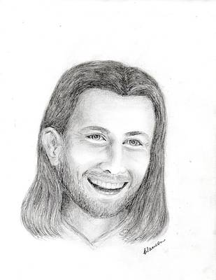 Jc1 Jesus Art Print by Cathy Samson
